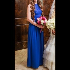 Cobalt Blue Bridesmaid Ball gown Dress. Size 4.